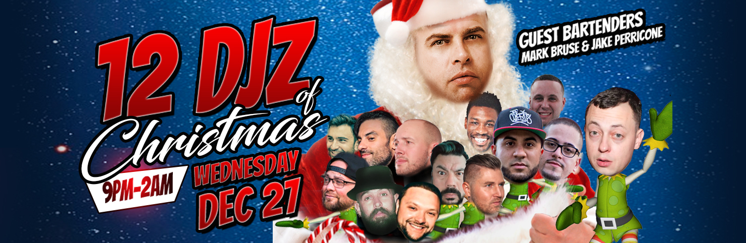 12 DJz of Xmas at Cheerleaders New Jersey
