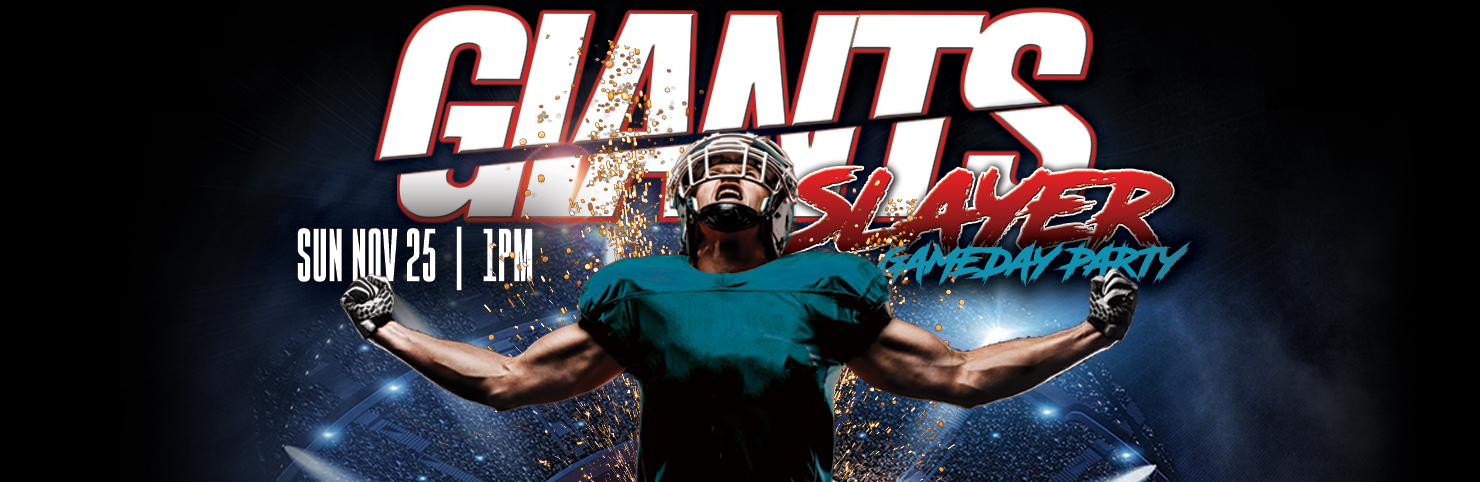 Giant Slayer Party at Cheerleaders New Jersey
