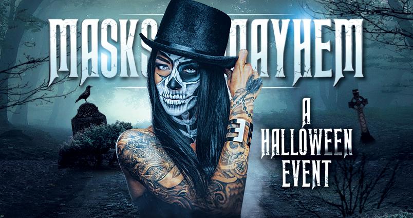 Masks & Mayhem Halloween at Cheerleaders Club