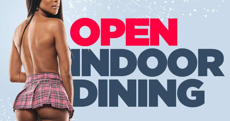Indoor Dining at Cheerleaders Club