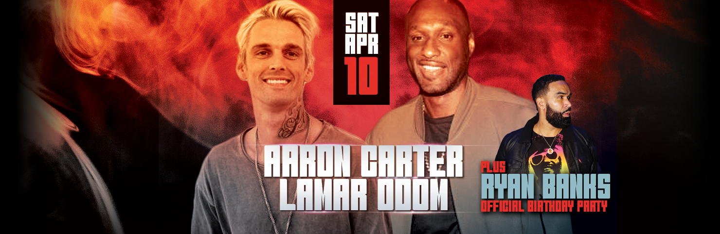 Aaron Carter + Lamar Odom After Party at Cheerleaders New Jersey