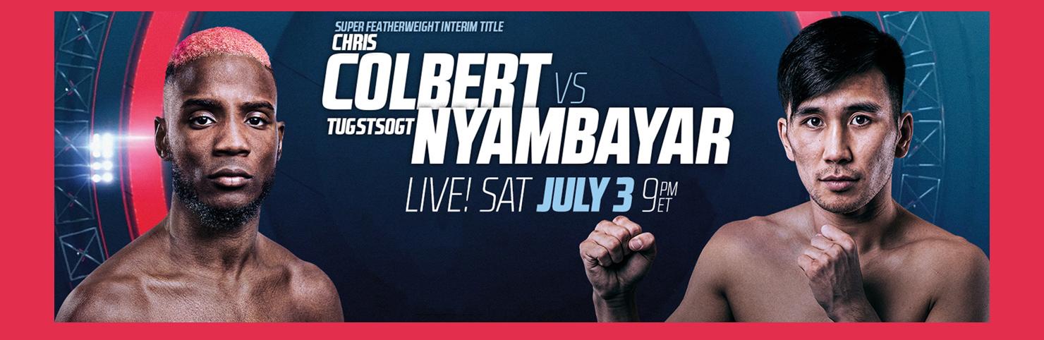 Colbert vs Nyambayar at Cheerleaders New Jersey